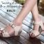 รองเท้าแตะรัดส้น สายคาดหน้าแต่งเข็มขัด (สีครีม) thumbnail 4