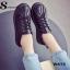 รองเท้าผ้าใบ สไตล์Dr.matens หนังนิ่ม (สีดำ ) thumbnail 3