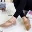 รองเท้าคัทชูแบบสายรัด ฉลุลาย แนววินเทจ (สีกากี ) thumbnail 1