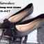 รองเท้าคัชชู ส้นแบนหนังนิ่ม(สีดำ) thumbnail 4