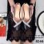 รองเท้าคัทชูหัวแหลม แต่งโบว์ สีทูโทน (สีดำ ) thumbnail 2