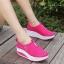 รองเท้าผ้าใบเสริมส้น Sport Girl (สีชมพู ) thumbnail 3