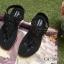 รองเท้าแตะลำลองรัดส้น งานบุนวม (สีดำ ) thumbnail 5