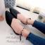 รองเท้าส้นแบนรัดส้น หัวแหลม หน้าV (สีดำ ) thumbnail 4
