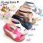 รองเท้าส้นเตารีด ทรงรัดส้น ดีไซน์เว้าข้าง (สีเทา ) thumbnail 4