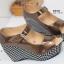 รองเท้าส้นเตารีด หุ้มส้น ลายชิโนริ (สีน้ำตาล ) thumbnail 5
