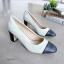 รองเท้าคัชชู งานส้นเหลี่ยม (สีขาว) thumbnail 2