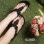 รองเท้าแตะลำลองรัดส้น งานบุนวม (สีดำ ) thumbnail 4