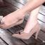 รองเท้าคัทชูหัวแหลม ส้นสูง แต่งโบว์ (สีน้ำตาล ) thumbnail 2