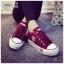 รองเท้าผ้าใบ สไตล์Converse ผ้ายีนส์ (สีแดง ) thumbnail 3