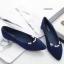 รองเท้าคัทชู หัวแหลม แต่งมุก (สีน้ำเงิน) thumbnail 2