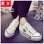 รองเท้าผ้าใบ สไตล์Converse ผ้ายีนส์ (สีขาว ) thumbnail 2