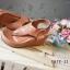 รองเท้าส้นเตารีดรัดส้น แบบคีบ สไตล์ชาแนล (สีน้ำตาล ) thumbnail 3