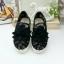 รองเท้าผ้าใบลำลอง สลิปออน ลายลูกไม้ (สีดำ ) thumbnail 7