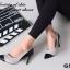 รองเท้าคัทชูส้นสูง หัวแหลม แต่งทูโทน (สีเทา ) thumbnail 3