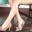รองเท้าคัทชูหัวแหลม ส้นสูง แต่งโบว์ (สีน้ำตาล ) thumbnail 7