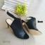 รองเท้าส้นสูงรัดข้อ เปิดส้น สไตล์ปราด้า (สีเทา) thumbnail 3