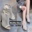 รองเท้าส้นสูงรัดข้อ ผ้าตาข่าย สไตล์เกาหลี (สีครีม ) thumbnail 1