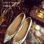 รองเท้าคัทชูส้นเตี้ย หัวแหลม สไตล์Christian louboutin (สีทอง ) thumbnail 1
