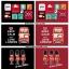 ผ้ากันเปื้อนผู้ใหญ่สไตล์เกาหลีญี่ปุ่น ลายทางขาวแดง กระเป๋าหน้า thumbnail 2