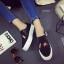 รองเท้าผ้าใบสไตล์ลำลอง ทรงสวม (สีดำ) thumbnail 1