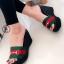 รองเท้าส้นเตารีดสไตล์กุชชี่ (สีดำ ) thumbnail 1