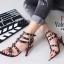 รองเท้าส้นสูง ทรงส้นเข็มรัดข้อ สไตล์ valentino (สีดำ) thumbnail 2