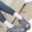 รองเท้าส้นเตารีด ทรงรัดส้น สไตล์เกาหลี (สีเทา ) thumbnail 1