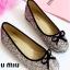 รองเท้าคัทชูส้นแบน แต่งขอบดำ สไตล์Miumiu (สีรุ้ง) thumbnail 1