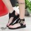 รองเท้าส้นแบน สไตล์เกาหลี (สีดำ ) thumbnail 5