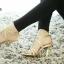 รองเท้าส้นสูงรัดส้น สไตล์YSL (สีทอง ) thumbnail 3