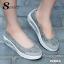 รองเท้าผ้าใบทรงคัชชู สไตล์สุขภาพ (สีเทา ) thumbnail 2