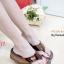 รองเท้าแตะเพื่อสุขภาพ ส้นหนา สายคาดเมทัลลิคเงา (สีน้ำตาล ) thumbnail 1