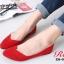 รองเท้าคัชชู สไตล์แบรนด์ZARA หนังกำมะหยี่นิ่ม (สีแดง ) thumbnail 4