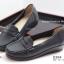 รองเท้าคัทชูส้นเตี้ย หนังเย็บ (สีดำ ) thumbnail 3