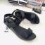 รองเท้าแตะส้นเตารีดแบบรัดข้อเท้า (สีดำ ) thumbnail 3