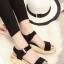 รองเท้าแตะรัดส้น สไตล์ลำลอง (สีดำ ) thumbnail 1