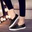 รองเท้าผ้าใบแฟชั่น แบบสวม ทรงนินจา (สีดำ ) thumbnail 2