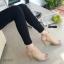 รองเท้าส้นสูงรัดข้อ เปิดส้น สไตล์ปราด้า (สีครีม) thumbnail 4