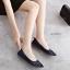 รองเท้าคัทชูส้นแบน ฉลุลาย (สีน้ำเงิน) thumbnail 5