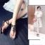 รองเท้าแตะผู้หญิงสีสีบรอนด์ชา งานdior (สีบรอนด์ชา) thumbnail 3