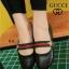 รองเท้าคัทชูส้นเตี้ย สไตล์Gucci (สีดำ ) thumbnail 1