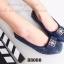 รองเท้าคัทชูส้นเตี้ย หัวตัด บุนวม (สีน้ำเงิน ) thumbnail 5
