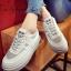 รองเท้าผ้าใบ Korea-style ผ้าแคนวาส (สีเทา )