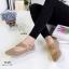 รองเท้าคัทชูแบบสายรัด ฉลุลาย แนววินเทจ (สีกากี ) thumbnail 3