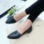 รองเท้าคัทชูหัวแหลม ส้นเตี้ย (สีดำ) thumbnail 2