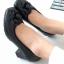 รองเท้าคัชชู สไตล์ chanel หนังนิ่มสีดำ (สีดำ )