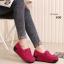 รองเท้าผ้าใบเสริมส้น วัสดุหนังกลับ แต่งภู่พร้อมโบว์ (สีชมพู ) thumbnail 3