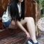รองเท้าผ้าใบผู้หญิงสีกรม เสริมส้น ผ้าลูกไม้ แบบสวม ระบายอากาศได้ดี สวมใส่สบาย นุ่มสบายเท้า แฟชั่นเกาหลี แฟชั่นพร้อมส่ง