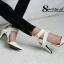 รองเท้าส้นเข็มรัดข้อ สไตล์ ZARA (สีขาว ) thumbnail 3
